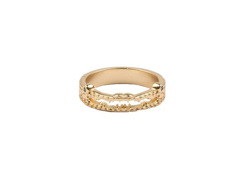 All the Luck in the World Bliss Goldplated Ring Croco Green