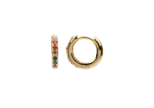 All the Luck in the World Earring Creole Multi 18K gold