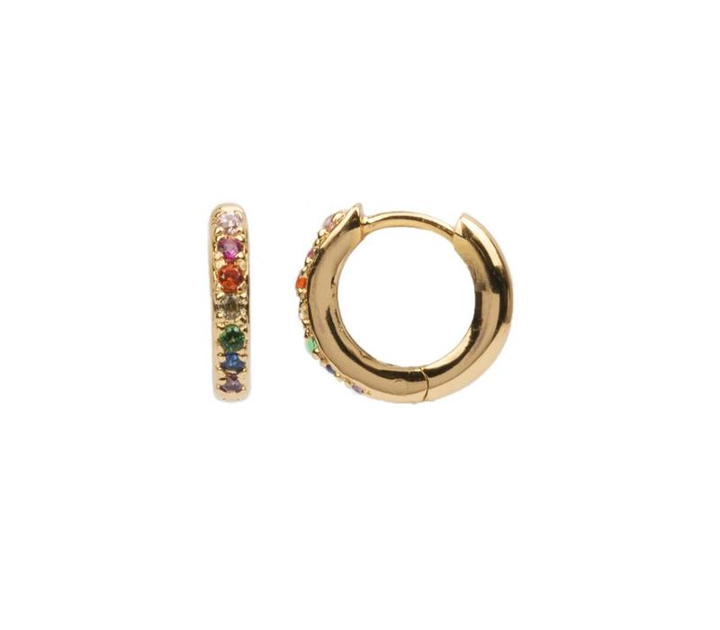 Earring Creole Multi 18K gold