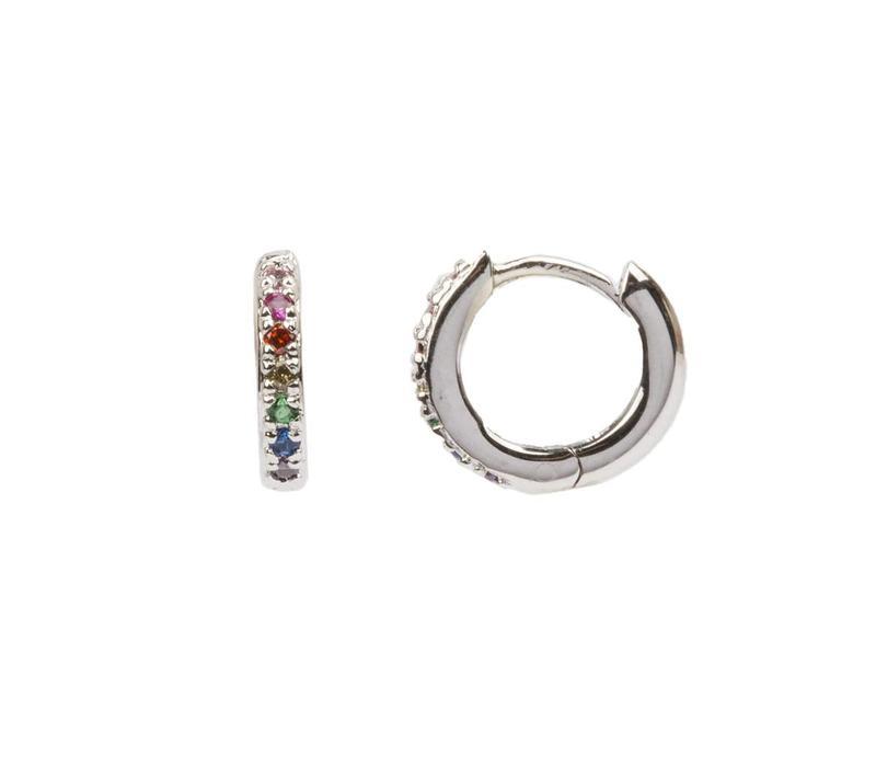 Earring Creole Multi silver
