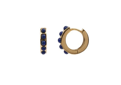 All the Luck in the World Creole thick Blue 18K gold