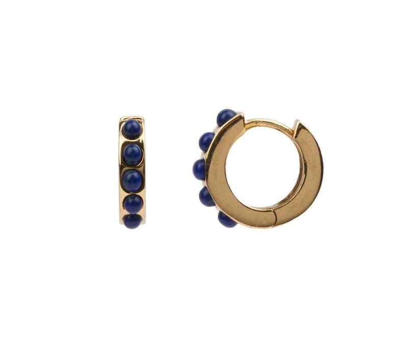 Creool Breed Blauw 18K goud