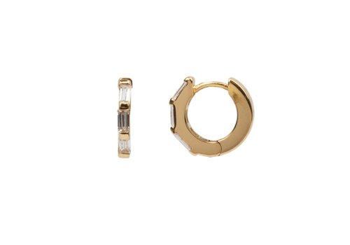 All the luck in the world Earring Creole All clear 18K gold