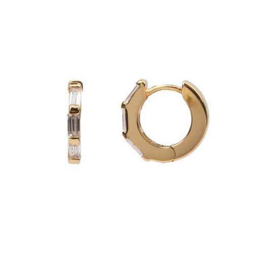 Oorbel Creool Transparant 18K goud