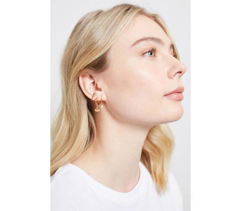 Bliss Goldplated Earring Hook White