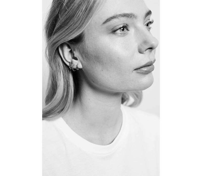 Earring 2 Split silver