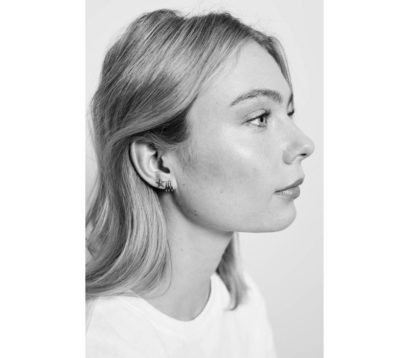 Earring 3 Split silver
