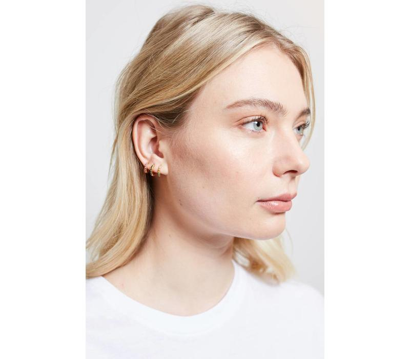 Bliss Goldplated Earring Creole Black