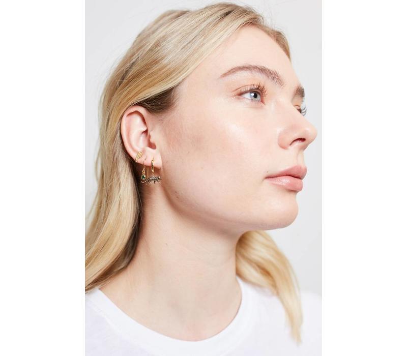 Bliss Goldplated Earring Hook Emerald green