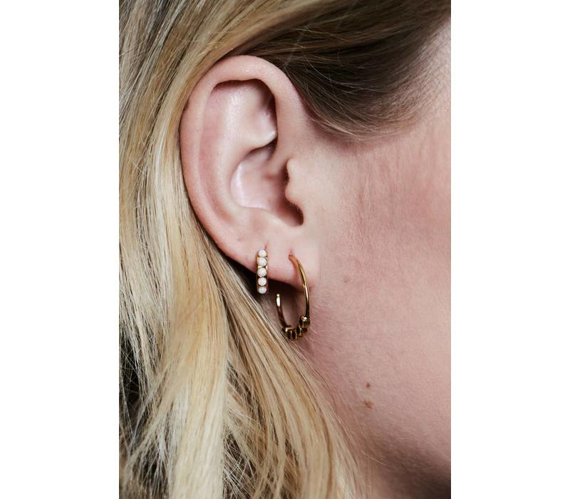 Bliss Goldplated Earring Creole big Turquoise