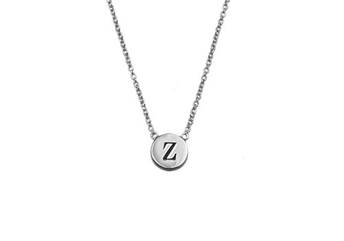All the Luck in the World Character Silverplated Necklace letter Z
