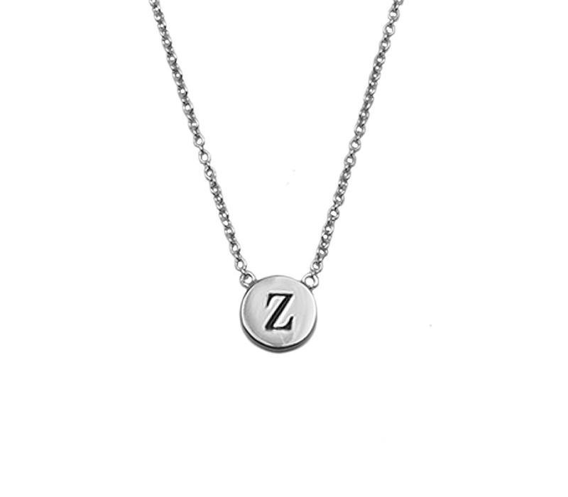Ketting letter Z zilver