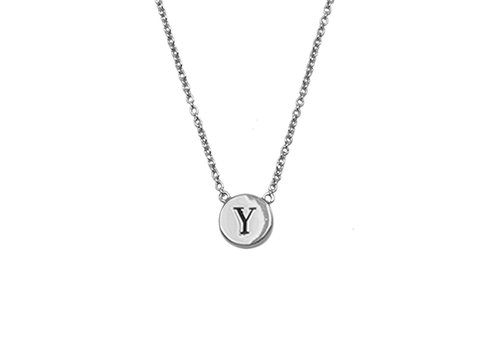 All the Luck in the World Character Silverplated Ketting letter Y