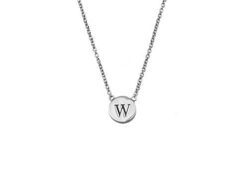 All the Luck in the World Necklace letter W silver