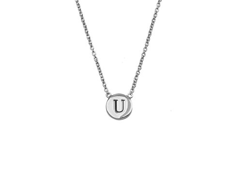 All the luck in the world Necklace letter U silver