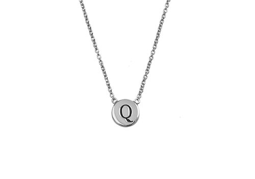 All the luck in the world Ketting letter Q zilver