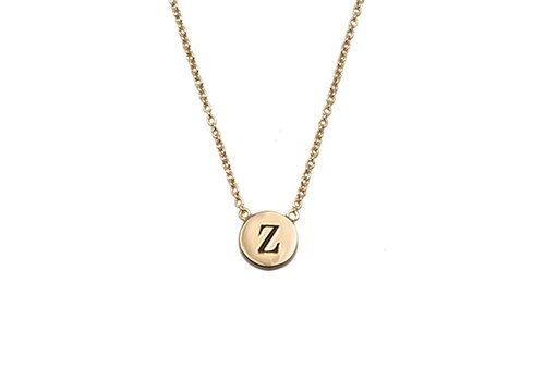 All the Luck in the World Necklace letter Z gold