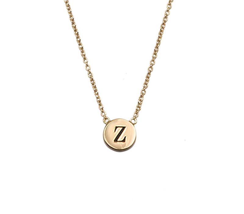 Necklace letter Z gold