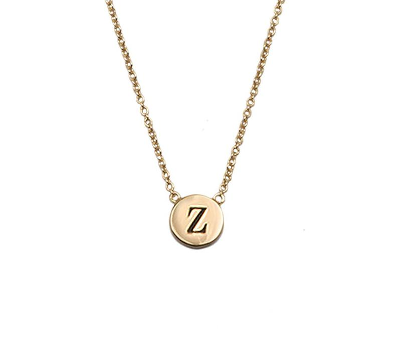 Necklace letter Z plated