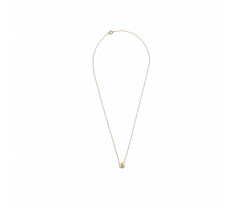 Character Goldplated Necklace letter Z