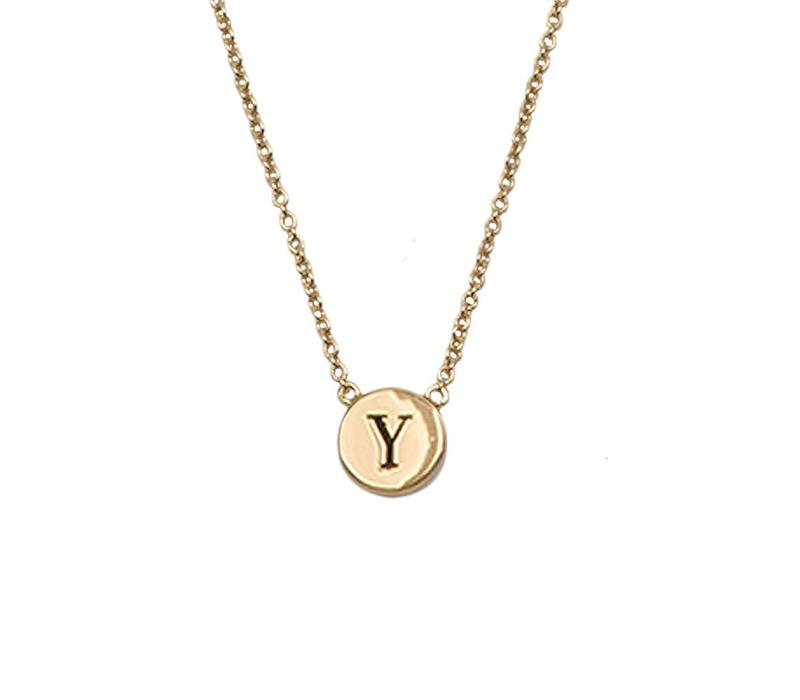 Necklace letter Y gold