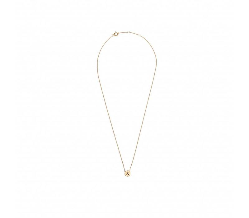Character Goldplated Ketting letter X