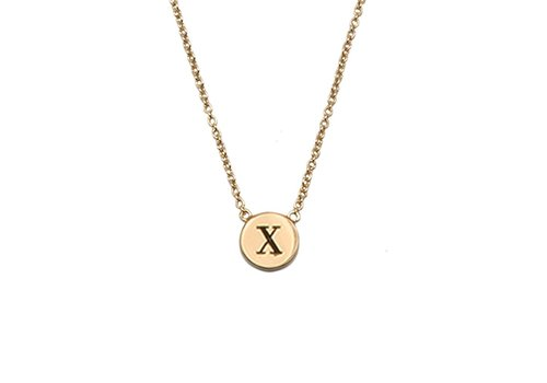 All the Luck in the World Necklace letter X gold