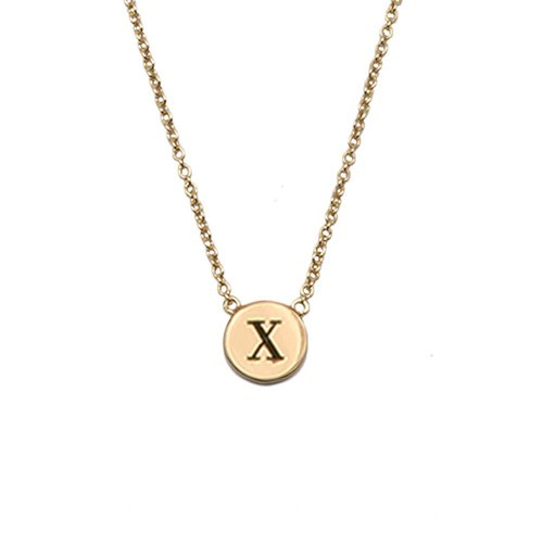 Ketting letter X 18K goud