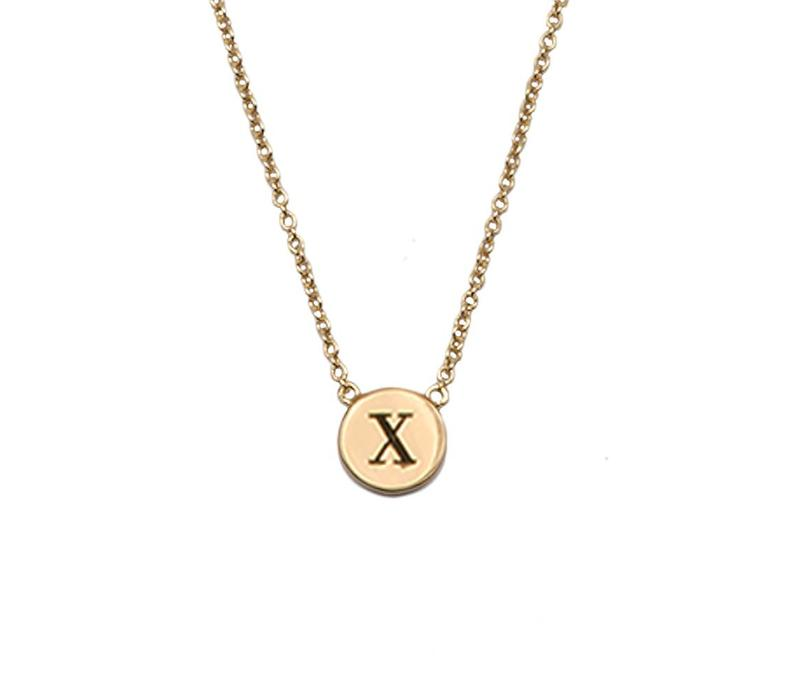 Necklace letter X gold