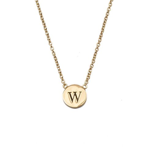 Character Goldplated Necklace letter W