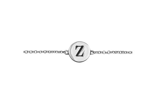All the luck in the world Armband letter Z zilver