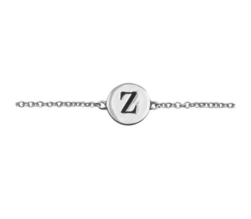 Character Silverplated Bracelet letter Z