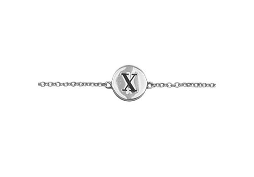All the Luck in the World Character Silverplated Armband letter X