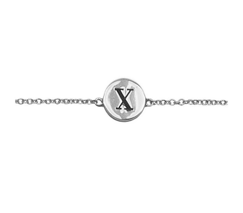 Bracelet letter X silver
