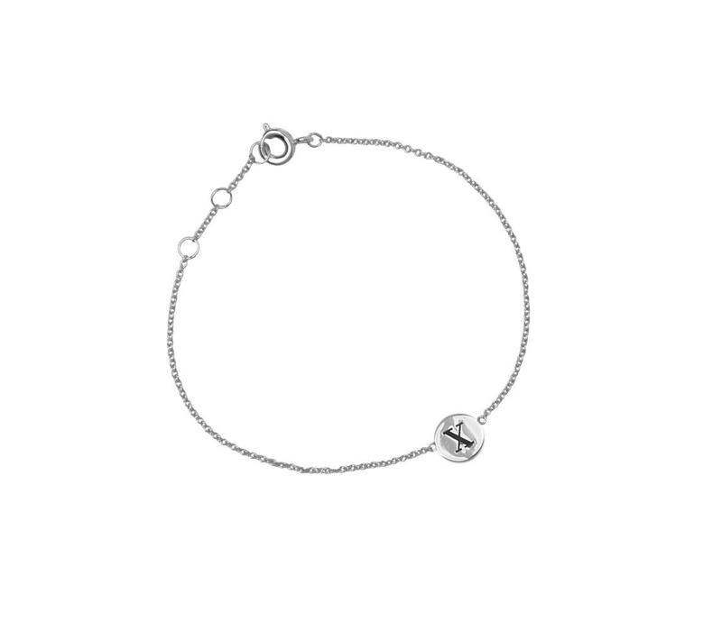 Character Silverplated Bracelet letter X