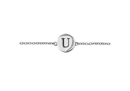 All the Luck in the World Character Silverplated Bracelet letter U