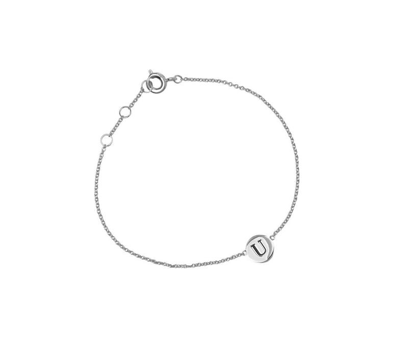 Character Silverplated Bracelet letter U