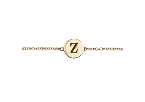 All the Luck in the World Bracelet letter Z gold
