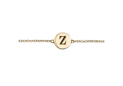All the Luck in the World Character Goldplated Bracelet letter Z
