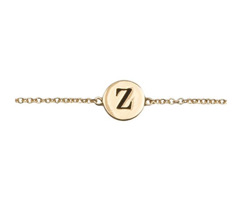 Character Goldplated Armband letter Z