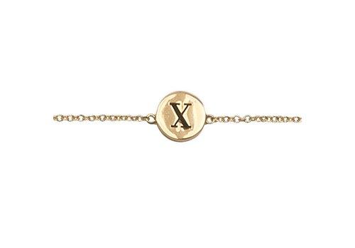All the Luck in the World Bracelet letter X
