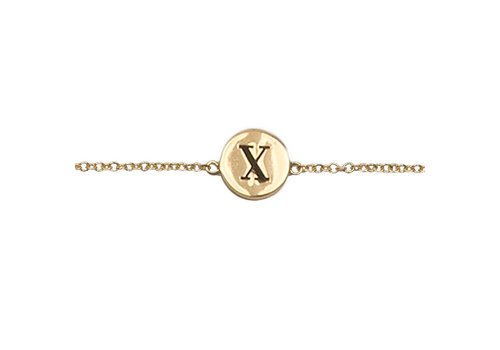 All the Luck in the World Character Goldplated Armband letter X