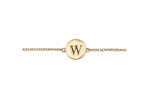 All the Luck in the World Armband letter W 18K goud