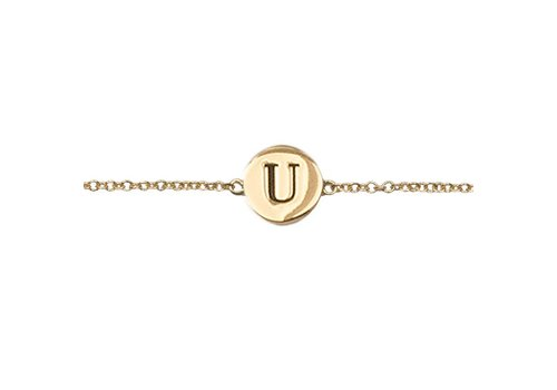All the Luck in the World Bracelet letter U gold