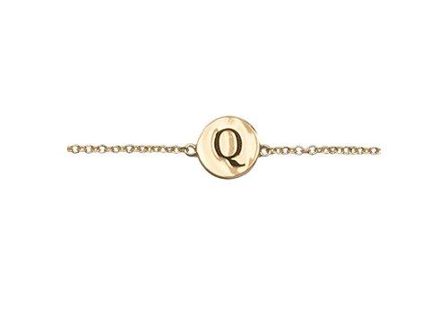All the Luck in the World Bracelet letter Q