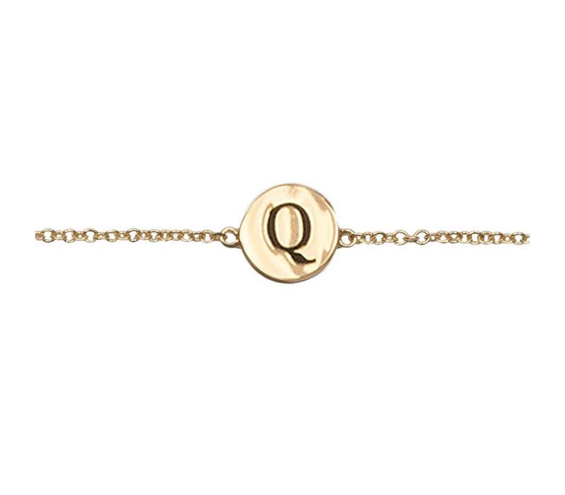 Armband letter Q 18K goud