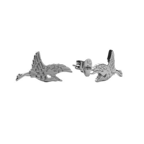 Oorbellen Kraanvogel zilver