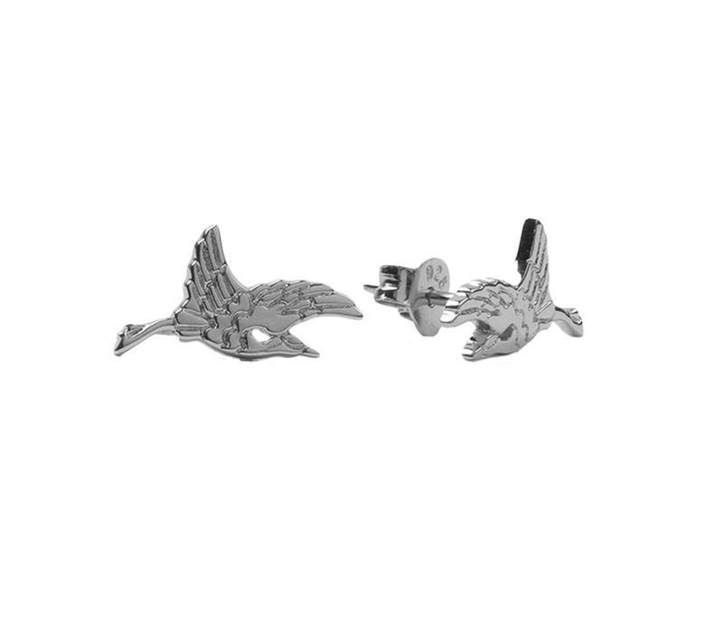 Earrings Crane silver