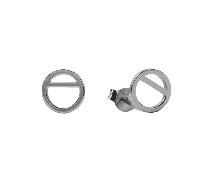 Parade Silverplated Oorbellen Geometrische cirkel