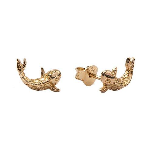 Earrings Koi Carp gold